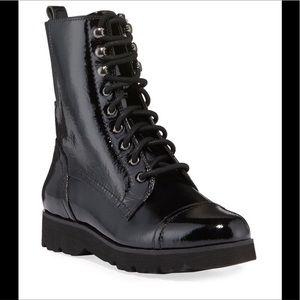 NWT Donald Pliner Camren Cap-Toe Leather Boots